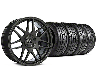 Staggered Forgestar F14 Gunmetal Wheel & Sumitomo Tire Kit - 19x9/10 (15-18 All)