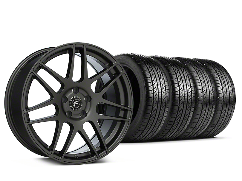 Staggered Forgestar F14 Gunmetal Wheel & Pirelli Tire Kit - 19x9/10 (15-20 GT, EcoBoost, V6)
