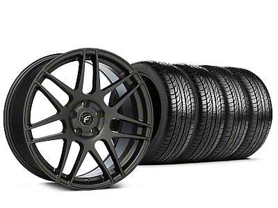 Staggered Forgestar F14 Gunmetal Wheel & Pirelli Tire Kit - 19x9/10 (15-18 All)