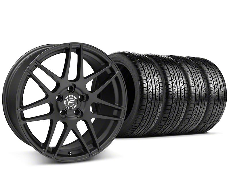 Staggered Forgestar F14 Matte Black Wheel & Pirelli Tire Kit - 19x9/10 (15-18 GT, EcoBoost, V6)