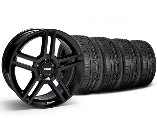 2010 GT500 Style Black Wheel & NITTO INVO Tire Kit - 19x8.5 (15-19 All)