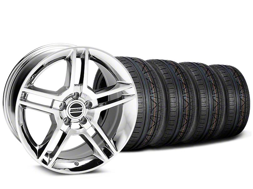 2010 GT500 Style Chrome Wheel & NITTO INVO Tire Kit - 19x8.5 (15-18 All)