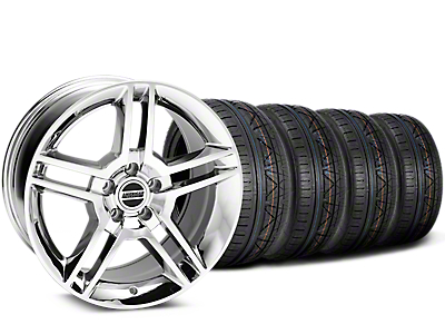 2010 GT500 Style Chrome Wheel & NITTO INVO Tire Kit - 19x8.5 (15-19 All)