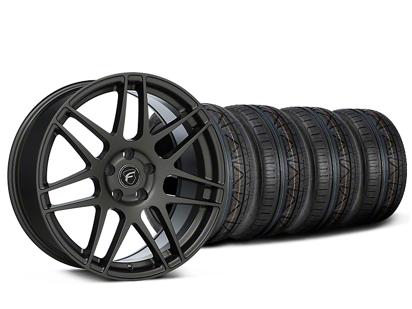 Staggered Forgestar F14 Gunmetal Wheel & NITTO INVO Tire Kit - 19x9/10 (15-18 All)