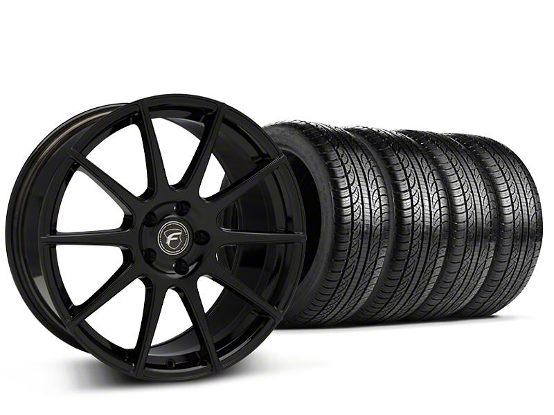 Forgestar CF10 Monoblock Piano Black Wheel & Pirelli Tire Kit - 19x9 (15-17 All)