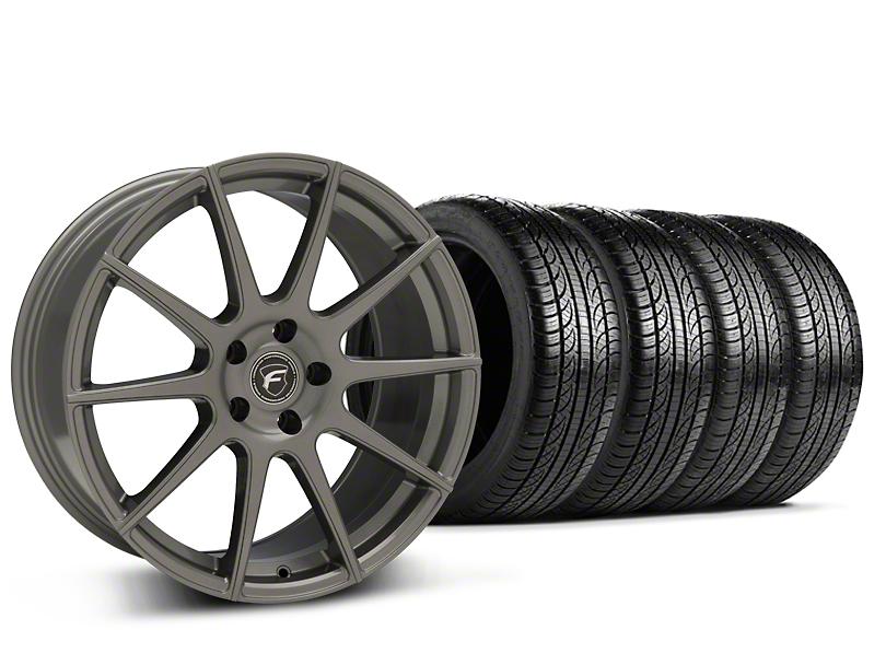 Forgestar CF10 Monoblock Gunmetal Wheel & Pirelli Tire Kit - 19x9 (15-18 GT, EcoBoost, V6)