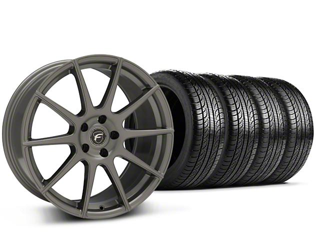 Forgestar CF10 Monoblock Gunmetal Wheel & Pirelli Tire Kit - 19x9 (15-19 GT, EcoBoost, V6)