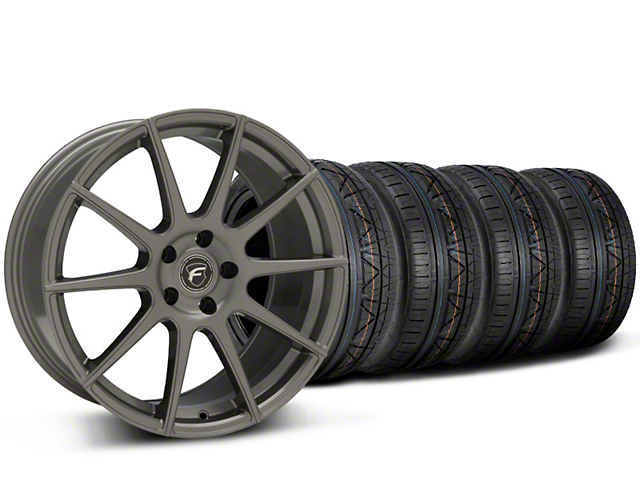 Forgestar CF10 Monoblock Gunmetal Wheel & NITTO INVO Tire Kit - 19x9 (15-17 All)