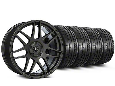 Forgestar F14 Monoblock Gunmetal Wheel & Mickey Thompson Tire Kit - 19x9 (15-19 All)