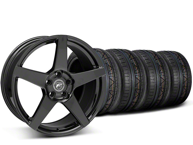 Forgestar CF5 Monoblock Gloss Black Wheel & Mickey Thompson Tire Kit - 19x9 (15-17 All)