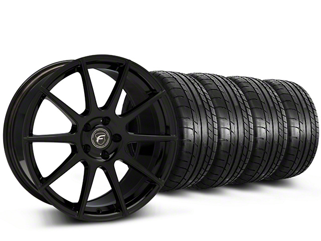 Forgestar CF10 Monoblock Piano Black Wheel & Mickey Thompson Tire Kit - 19x9 (15-17 All)