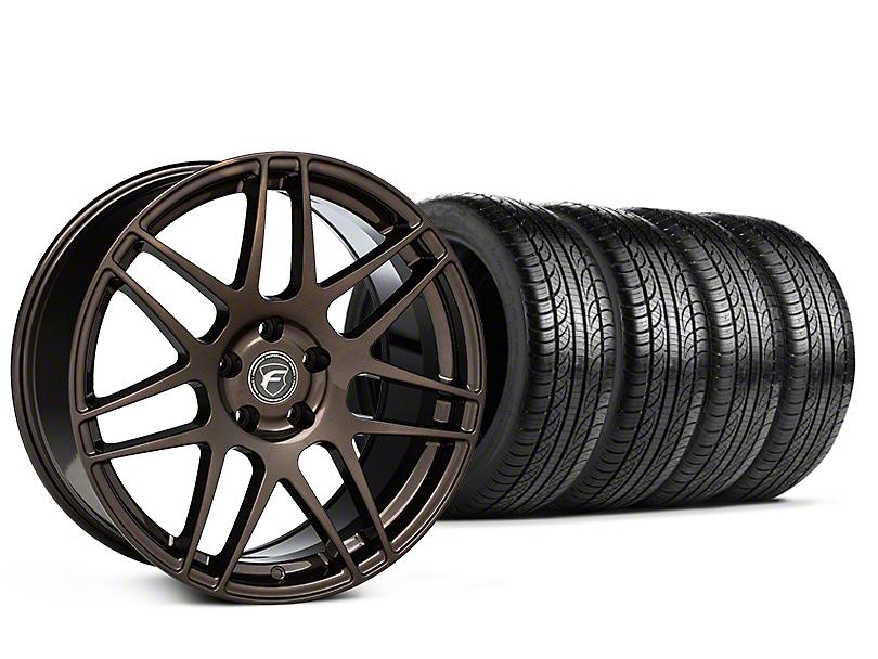 Staggered Forgestar F14 Bronze Burst Wheel & Pirelli Tire Kit - 19x9/10 (15-19 All)