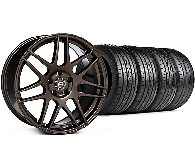 Staggered Forgestar F14 Bronze Burst Wheel & Sumitomo Tire Kit - 19x9/10 (15-17 All)