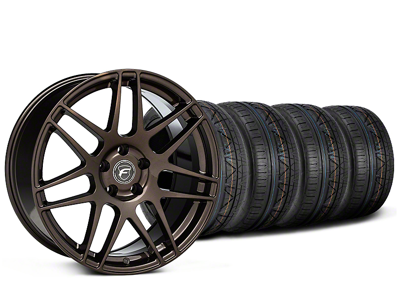 Staggered Forgestar F14 Bronze Burst Wheel & NITTO INVO Tire Kit - 19x9/10 (15-18 All)