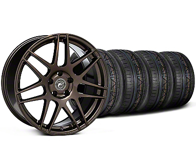 Staggered Forgestar F14 Bronze Burst Wheel & NITTO INVO Tire Kit - 19x9/10 (15-19 All)