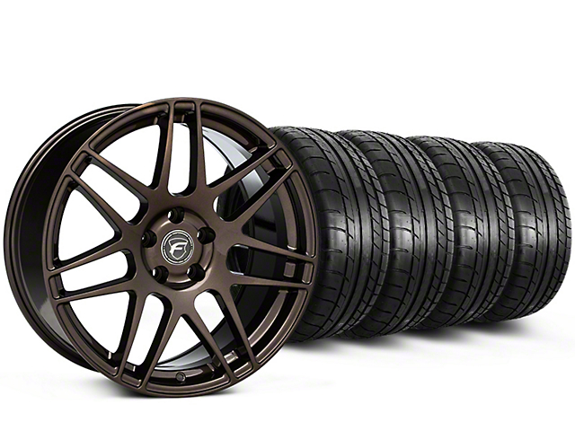 Staggered Forgestar F14 Bronze Burst Wheel & Mickey Thompson Tire Kit - 19x9/10 (15-18 All)