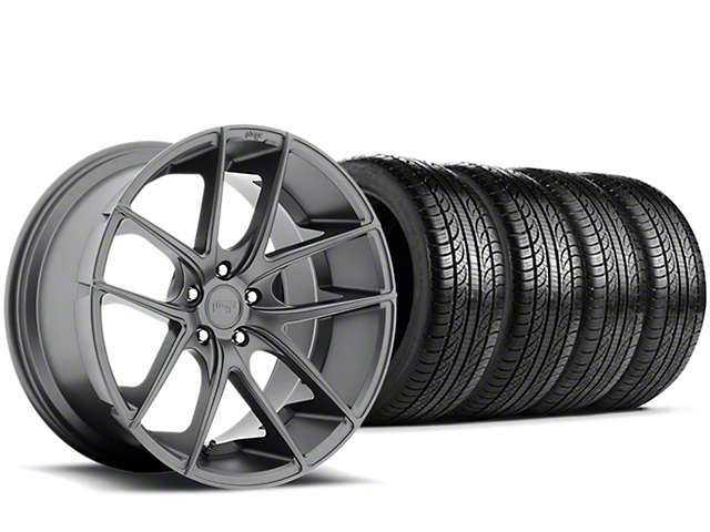 Niche Targa Matte Anthracite Wheel & Pirelli Tire Kit - 19x8.5 (15-18 All)