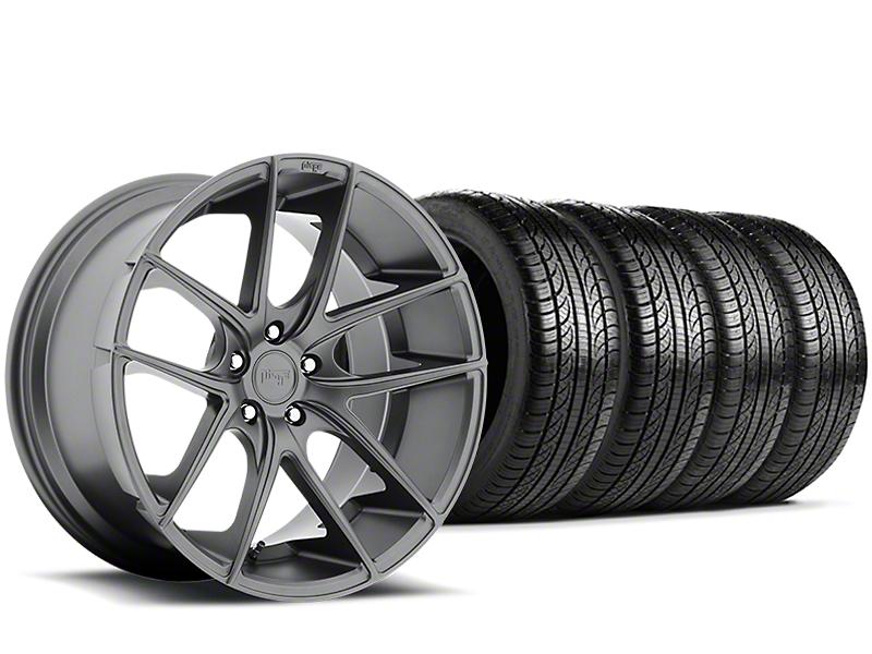 Niche Targa Matte Anthracite Wheel & Pirelli Tire Kit - 19x8.5 (15-19 All)
