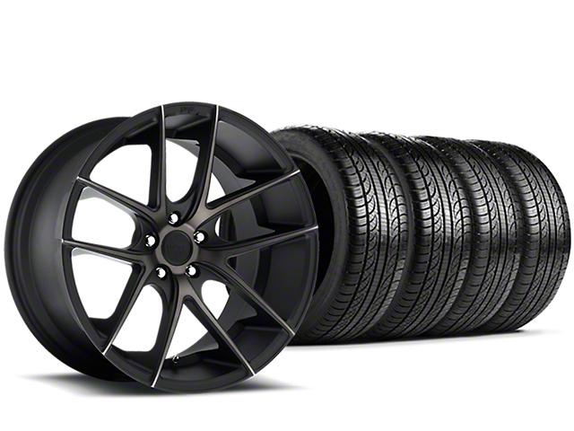 Niche Targa Black Wheel & Pirelli Tire Kit - 19x8.5 (15-19 All)