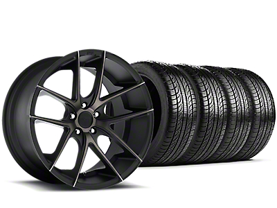 Niche Targa Black Wheel & Pirelli Tire Kit - 19x8.5 (15-18 All)