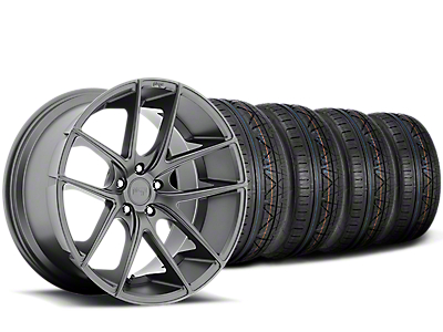 Niche Targa Matte Anthracite Wheel & NITTO INVO Tire Kit - 19x8.5 (15-19 All)