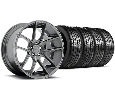 Staggered Niche Targa Anthracite Wheel & Pirelli Tire Kit - 19x8.50/9.5 (15-18 All)