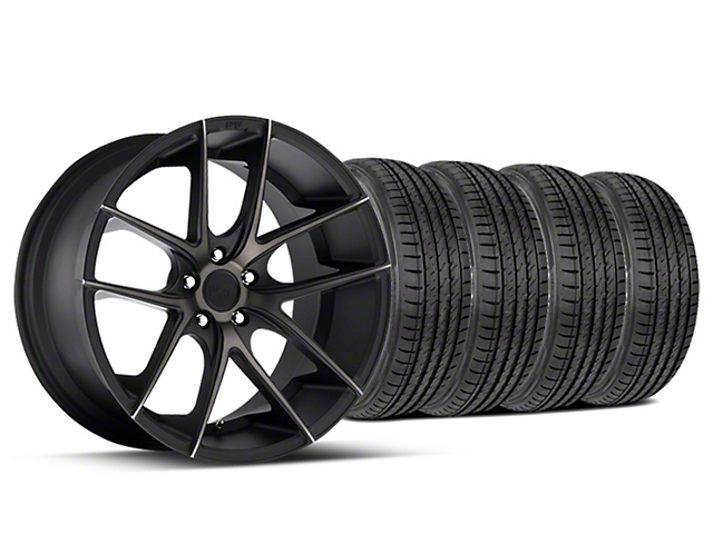 Staggered Niche Targa Black Wheel & Sumitomo Tire Kit - 19x8.5/9.5 (15-18 All)