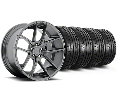 Staggered Niche Targa Anthracite Wheel & Mickey Thompson Tire Kit - 19x8.50/9.5 (15-17 All)