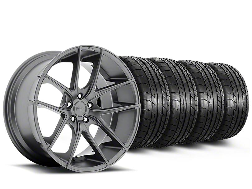 Niche Targa Matte Anthracite Wheel & Mickey Thompson Tire Kit - 19x8.5 (15-18 All)