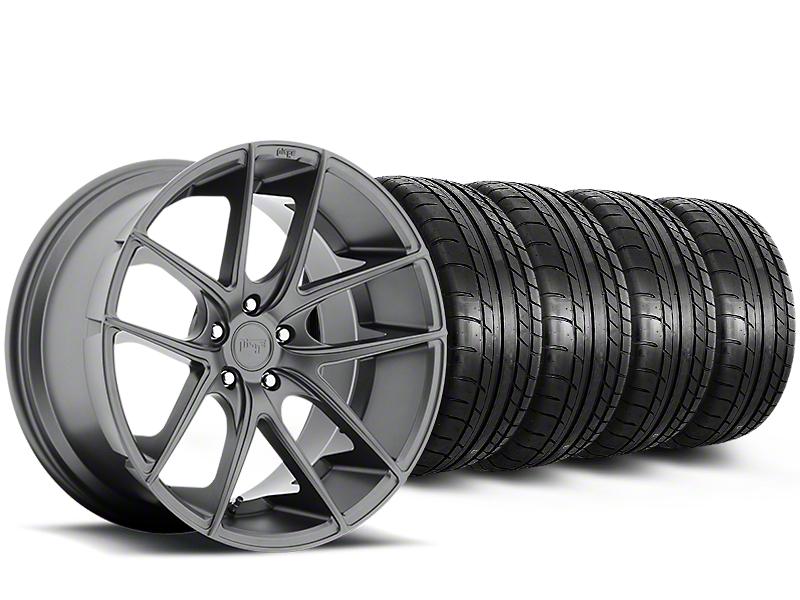 Niche Targa Matte Anthracite Wheel & Mickey Thompson Tire Kit - 19x8.5 (15-19 All)