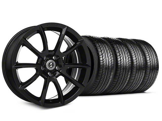 Shelby Super Snake Style Black Wheel & Pirelli Tire Kit - 19x8.5 (15-19 All)