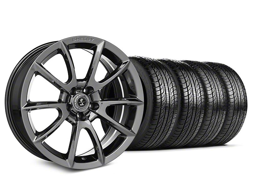 Shelby Super Snake Style Chrome Wheel & Pirelli Tire Kit - 19x8.5 (15-19 All)