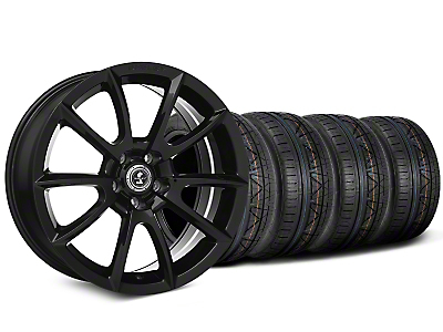 Shelby Super Snake Style Black Wheel & NITTO INVO Tire Kit - 19x8.5 (15-17 All)