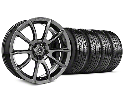 Staggered Shelby Super Snake Style Chrome Wheel & Pirelli Tire Kit - 19x8.5/10 (15-18 All)