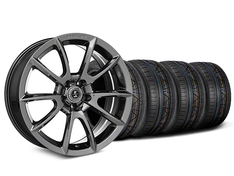 Staggered Shelby Super Snake Style Chrome Wheel & NITTO INVO Tire Kit - 19x8.5/10 (15-18 All)