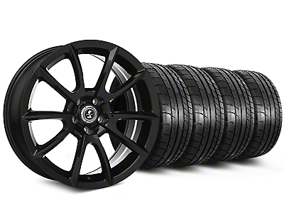 Staggered Shelby Super Snake Style Black Wheel & Mickey Thompson Tire Kit - 19x8.5/10 (15-17 All)