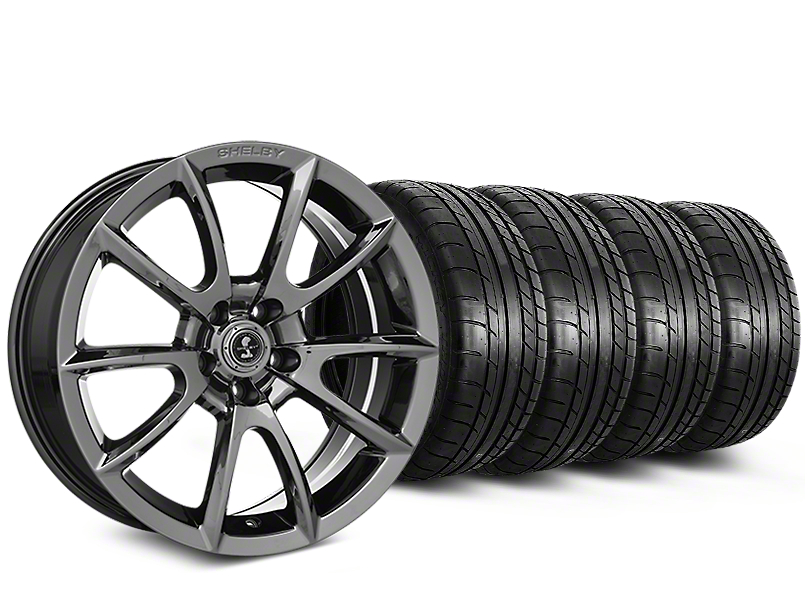 Staggered Shelby Alcoa Style Chrome Wheel & Mickey Thompson Tire Kit - 19x8.5/10 (15-17 All)