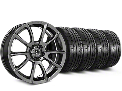 Staggered Shelby Alcoa Style Chrome Wheel & Mickey Thompson Tire Kit - 19x8.5/10 (15-18 All)