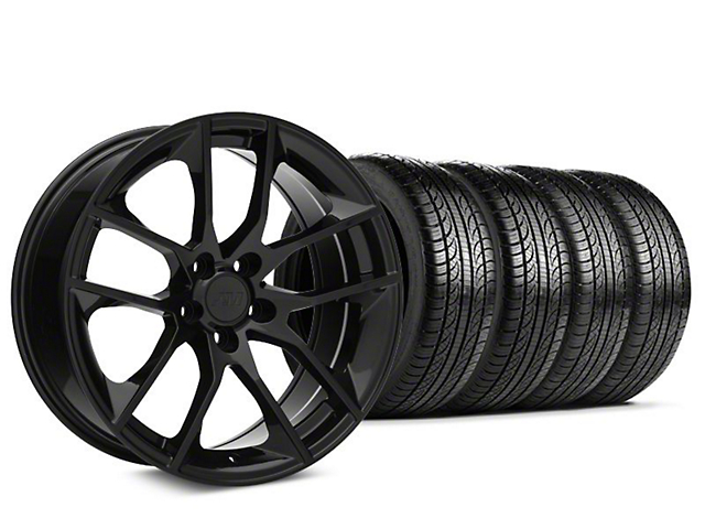 Magnetic Style Black Wheel & Pirelli Tire Kit - 19x8.5 (15-18 GT, EcoBoost, V6)