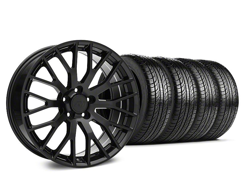 Performance Pack Style Black Wheel & Pirelli Tire Kit - 19x8.5 (15-18 GT, EcoBoost, V6)