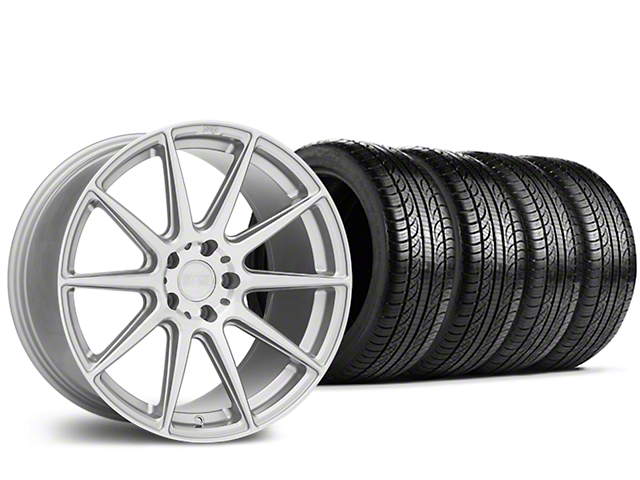 Niche Essen Silver Wheel & Pirelli Tire Kit - 19x8.5 (15-18 All)