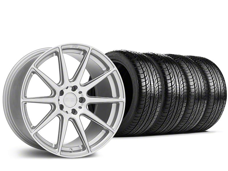 Niche Essen Silver Wheel & Pirelli Tire Kit - 19x8.5 (15-19 All)