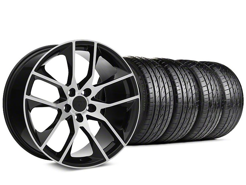 Magnetic Style Black Machined Wheel & Sumitomo Tire Kit - 19x8.5 (15-18 GT, EcoBoost, V6)
