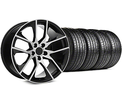 Magnetic Style Black Machined Wheel & Sumitomo Tire Kit - 19x8.5 (15-19 GT, EcoBoost, V6)