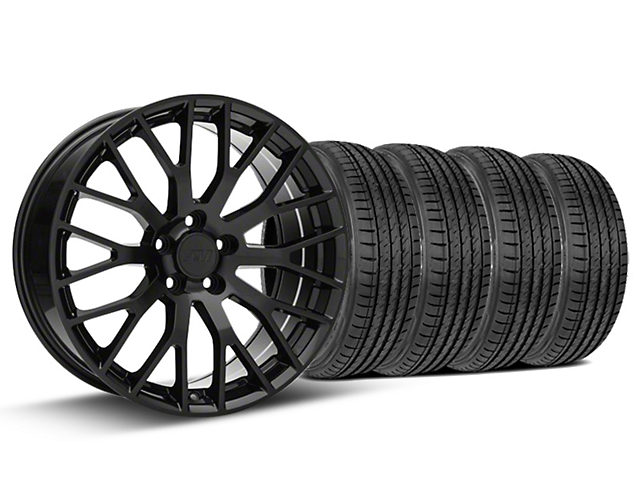 Performance Pack Style Black Wheel & Sumitomo Tire Kit - 19x8.5 (15-17 All)