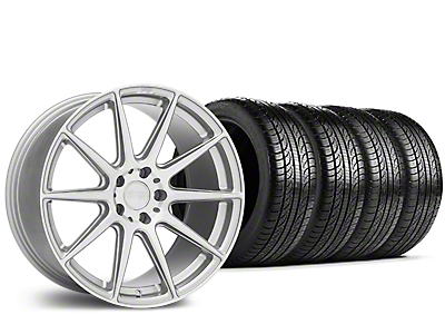 Staggered Niche Essen Silver Wheel & Pirelli Tire Kit - 19x8.5/10 (15-18 All)
