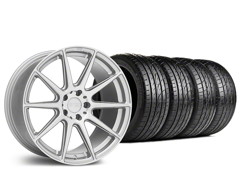 Staggered Niche Essen Silver Wheel & Sumitomo Tire Kit - 19x8.5/10 (15-17 All)