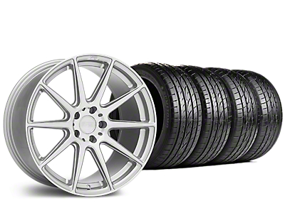 Staggered Niche Essen Silver Wheel & Sumitomo Tire Kit - 19x8.5/10 (15-18 All)