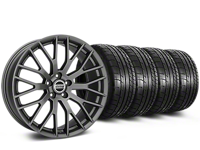 Staggered Performance Pack Style Charcoal Wheel & Mickey Thompson Tire Kit - 19x8.5 (15-17 All)