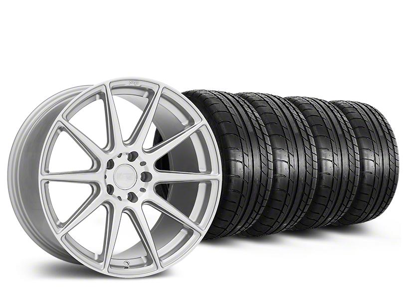 Staggered Niche Essen Silver Wheel & Mickey Thompson Tire Kit - 19x8.5/10 (15-17 All)